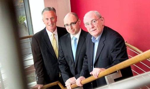 Pictured Cabot Financial Ireland CEO Sean Webb, Cabot Commercial Director David Brady and Pat Kelly, MD of XRS